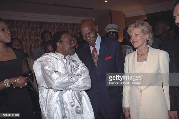 Omar Bongo President of Gabon Abdoulaye and Viviane Wade