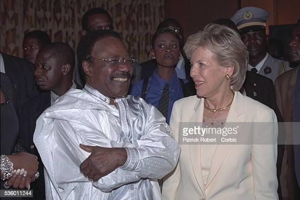 Omar Bongo President of Gabon and Viviane Wade