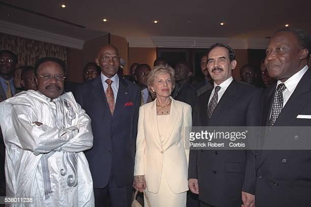Omar Bongo President of Gabon AWade Viviane Wade X and BCompaore President of Burkina Faso