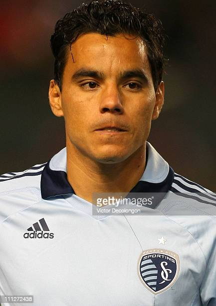 Omar Bravo of Sporting Kansas City looks on prior to the MLS match against Chivas USA at The Home Depot Center on March 19 2011 in Carson California...