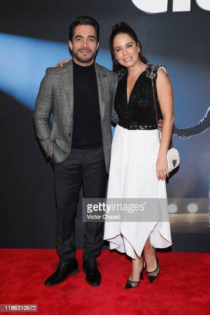 Omar Chaparro and Ana Claudia Talancon attend the red carpet of Netflix film Como Caido del Cielo at Cinemex Antara Polanco on December 3 2019 in...