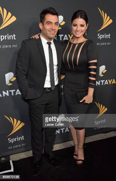 Omar Chaparro and Maite Perroni attend Pantaya and Sprint Celebrate collaboration and launch of SpanishLanguage Streaming Service at Boulevard3 on...