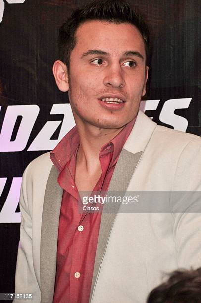 Omar Chavez in the press conference of Julio Cesar Chavez Jr when received his green belt at Big Bola Casino Interlomas Mexico City on June 22 2011...