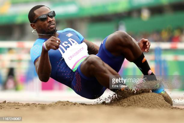 Omar Craddock of United States competes in Men's Triple Jump Final on Day 15 of Lima 2019 Pan American Games on August 10, 2019 in Lima, Peru.