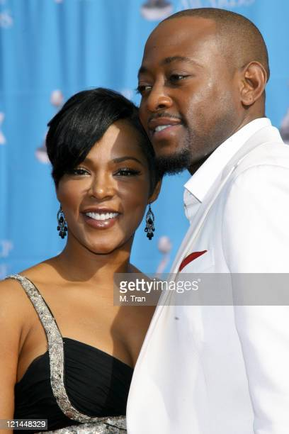 Omar Epps and guest during 38th Annual NAACP Image Awards - Arrivals at Shrine Auditorium in Los Angeles, California, United States.