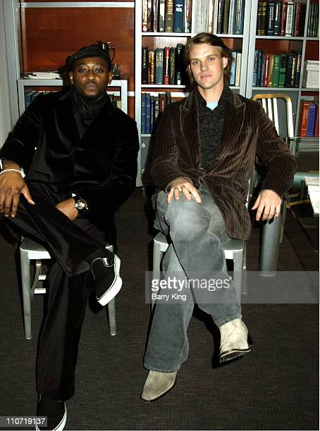 Omar Epps and Jesse Spencer during House Press Party for TCA at Fox Backlot Soundstages in Los Angeles California United States