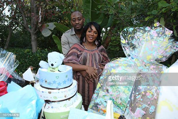 Omar Epps and Keisha Epps at Omar Epps and Keisha Epps' baby shower at a private residence on November 3, 2007 in Chatsworth, California.
