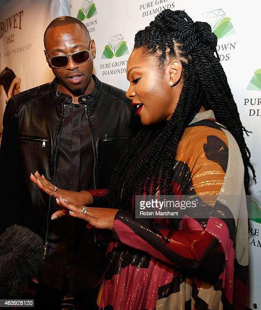 Omar Epps and Keisha Epps attend World's Largest LabCultivated Pure Grown Diamond UnveiledÊScientific Breakthrough Debuts at Hollywood Domino Annual...