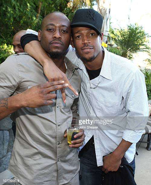 Omar Epps and Marlon Wayans at Omar Epps and Keisha Epps' baby shower at a private residence on November 3, 2007 in Chatsworth, California.