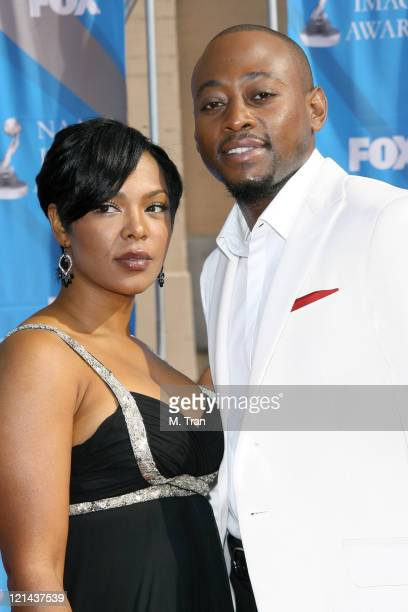 Omar Epps and wife Keisha Epps during 38th Annual NAACP Image Awards - Arrivals at Shrine Auditorium in Los Angeles, California, United States.