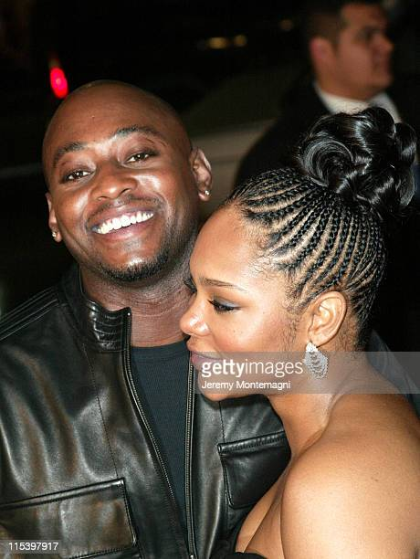 Omar Epps and wife Keisha Epps during 'Against the Ropes' World Premiere at Graumann's Chinese Theatre in Hollywood California United States