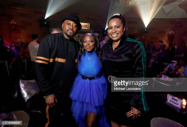 Omar Epps, Naturi Naughton, and Courtney A. Kemp attend 'Power Book III: Raising Kanan' global premiere event and screening at Hammerstein Ballroom...