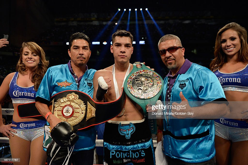 Omar Figueroa poses after his first round knockout of Abner Cotto during the Vacant NABA and WBC Fecarbox Lightweight Titles and WBC Semi-Final Lightweight Eliminator at Alamodome on April 20, 2013 in San Antonio, Texas.