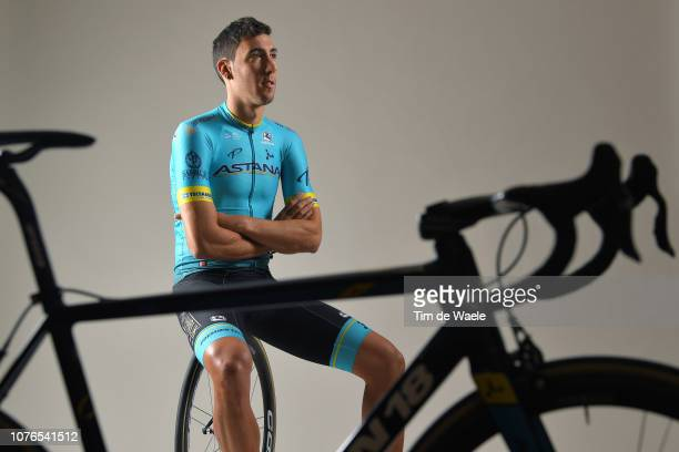 Omar Fraile Matarranz of Spain and Astana Pro Team / Corima Wheel / Argon 18 Bike / Silhouette / Detail view / on December 17 2018 in Altea Spain