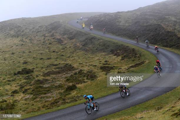 Omar Fraile Matarranz of Spain and Astana Pro Team / Jonathan Castroviejo of Spain and Team INEOS Grenadiers / David Gaudu of France and Team...