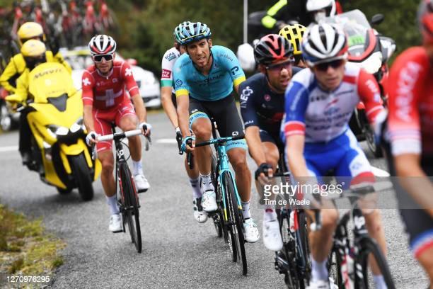 Omar Fraile Matarranz of Spain and Astana Pro Team / Sebastien Reichenbach of Switzerland and Team Groupama - FDJ / Jonathan Castroviejo of Spain and...