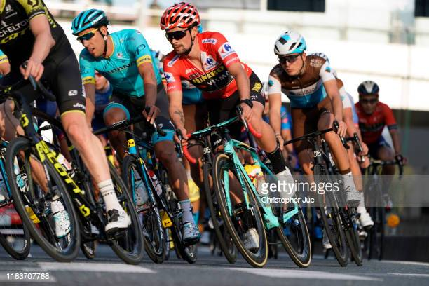 Omar Fraile of Spain and Astana Pro Team / Primoz Roglic of Slovenia and Team Jumbo - Visma La Vuelta 2019 Red Leader Jersey / during the 7th Tour de...