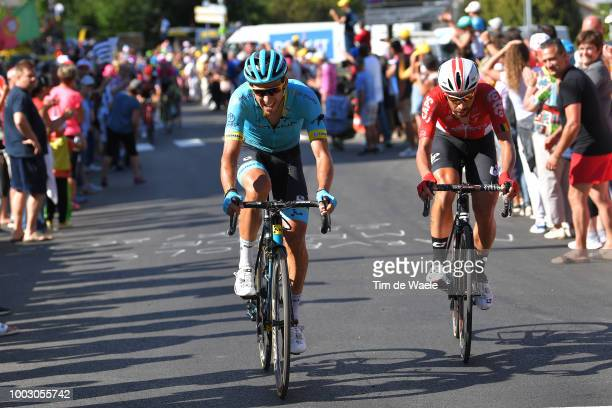 Omar Fraile of Spain and Astana Pro Team / Thomas De Gendt of Belgium and Team Lotto Soudal / during the 105th Tour de France 2018 Stage 14 a 188km...