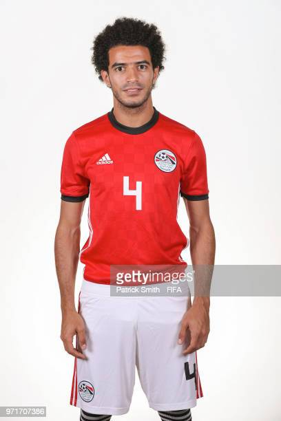Omar Gaber of Egypt poses for a portrait during the official FIFA World Cup 2018 portrait session at The Local Hotel on June 11 2018 in Gronzy Russia