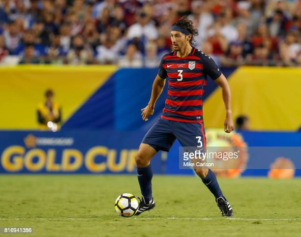 Omar Gonzalez of the United States against Martinique during the first half of the CONCACAF Group B match at Raymond James Stadium on July 12, 2017...