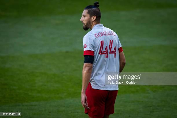 Omar Gonzalez of Toronto FC in the first half of the the Major League Soccer match against Toronto FC at Red Bull Arena on November 08, 2020 in...