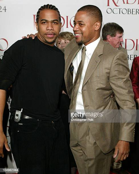 Omar Gooding and Cuba Gooding Jr during 'Radio' Hollywood Premiere at The Academy of Motion Pictures Arts and Science in Hollywood California United...