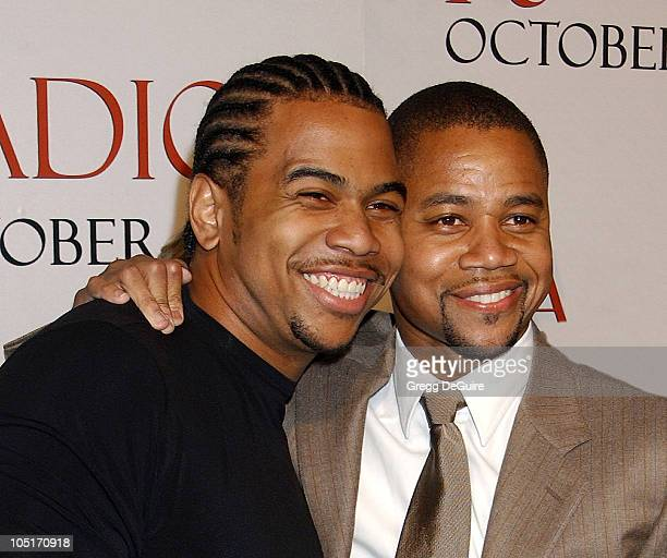 """Omar Gooding and Cuba Gooding Jr. During """"Radio"""" Premiere - Arrivals at Academy Theatre in Beverly Hills, California, United States."""