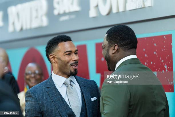Omar Hardwick and Curtis 50 Cent Jackson attend the Power Season 5 Premiere at Radio City Music Hall on June 28 2018 in New York City