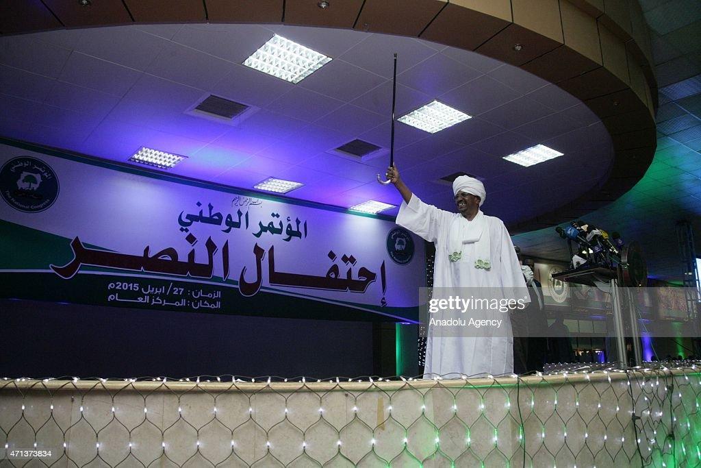 Sudan's President Omar Al-Bashir Wins Re-Election : News Photo