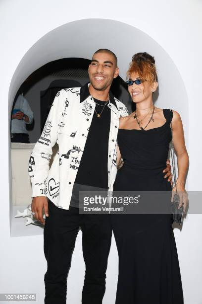 Omar Hassan and Nina Zilli attend 2018 Ischia Global Film Music Fest on July 18 2018 in Ischia Italy