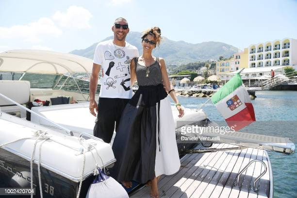 Omar Hassan and Nina Zilli attend 2018 Ischia Global Film Music Fest on July 20 2018 in Ischia Italy