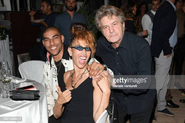 Omar Hassan Nina Zilli and Fausto Leali attend 2018 Ischia Global Film Music Fest on July 18 2018 in Ischia Italy