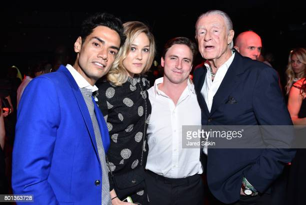 Omar Hernandez Andrea Feick Ronald Murray and Joel Schumacher attend The Dom Perignon Vintage Trinity Launch Party at 17 Irving Place on June 22 2017...