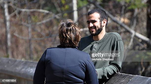 Omar Khadr on May 9 talking with Patricia Edney who along with her husband Dennis has offered the 28yearold former Guantanamo Bay detainee a home...