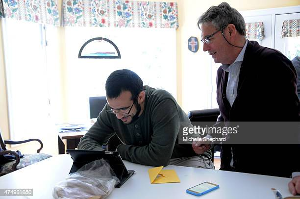 Omar Khadr on May 9 with his longtime Canadian lawyer Dennis Edney Edney along with his wife Patricia have offered the 28yearold their home while he...