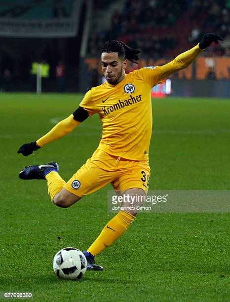 Omar Mascarell of Frankfurt in action during the Bundesliga match between FC Augsburg and Eintracht Frankfurt at WWK Arena on December 4 2016 in...