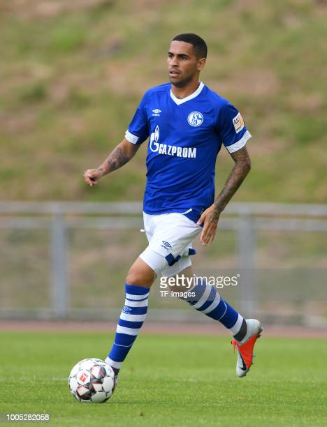 Omar Mascarell of Schalke controls the ball during the Friendly match between Schwarz Weiss Essen and FC Schalke 04 on July 21 2018 in Essen Germany
