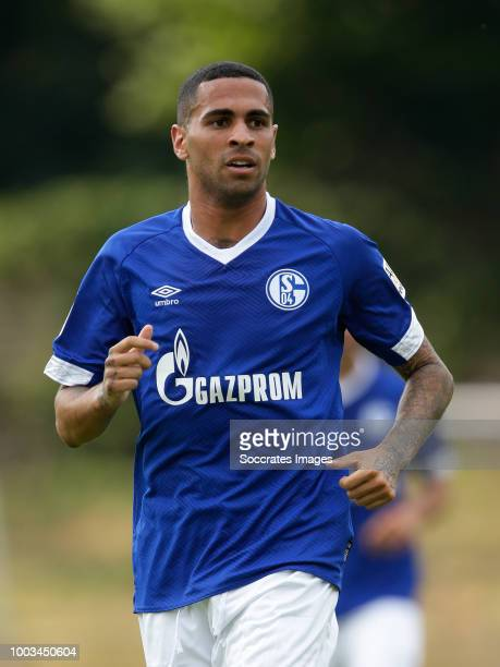 Omar Mascerell of Schalke 04 during the Club Friendly match between Schalke 04 v Schwarz Weiss Essen at the Uhlenkrugstadion on July 21 2018 in Essen...