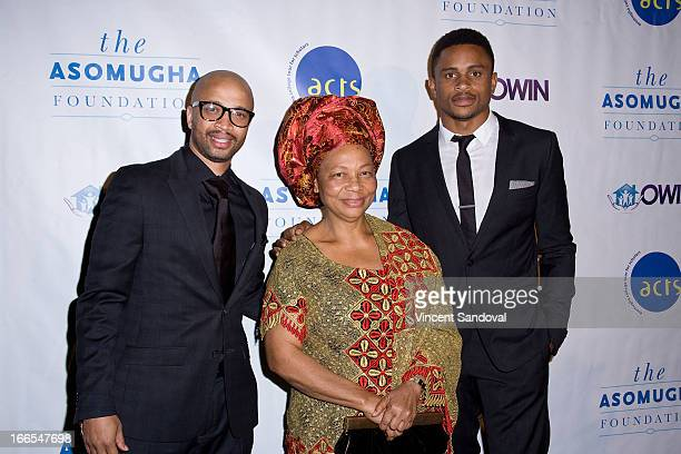 Omar McGhee Dr Lilian Asomugha and professional Football player Nnamdi Asomugha attends the 7th annual Asomugha Foundation Gala at Millennium...