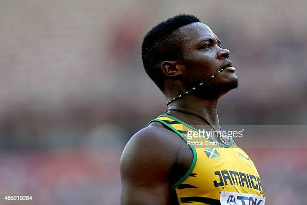 Omar McLeod of Jamaica looks on after competing in the Men's 110 metres hurdles heats during day five of the 15th IAAF World Athletics Championships...