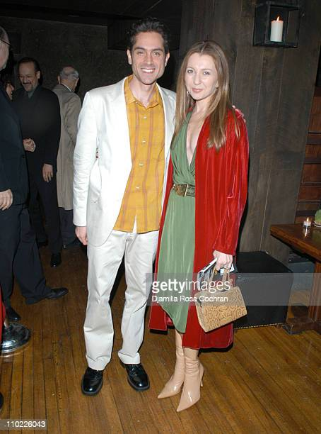 Omar Metwally and Donna Murphy during 'Beast on the Moon' Play After Party at Candella in New York City New York United States