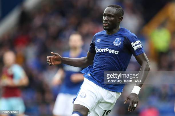 Omar Niasse of Everton during the Premier League match between Everton and Burnley at Goodison Park on October 1 2017 in Liverpool England