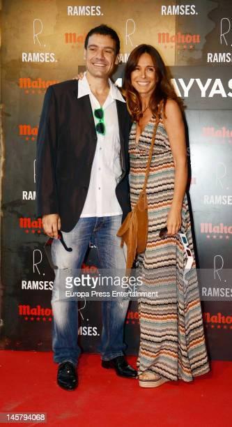 Omar Oyyashi and Lidya Bosch attend Omar Oyyashi's exhibition at PhotoEspana International Festival on June 5 2012 in Madrid Spain