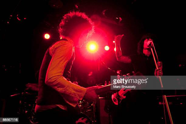 Omar RodriguezLopez and Cedric BixlerZavala of Mars Volta perform at the Institute Of Contemporary Arts on June 18 2009 in London England
