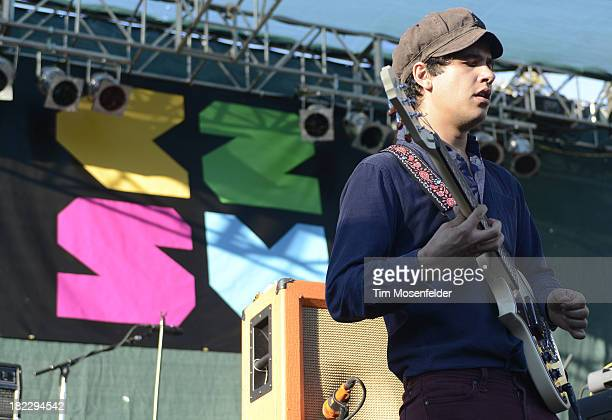 Omar RodriguezLopez of Bosnian Rainbows performs as part of C2SV Music Festival Day Three at St James Park on on September 28 2013 in San Jose...