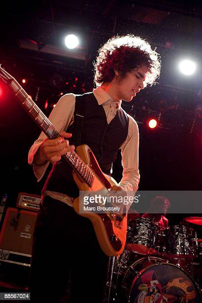 Omar RodriguezLopez of Mars Volta performs at the Institute Of Contemporary Arts on June 18 2009 in London England