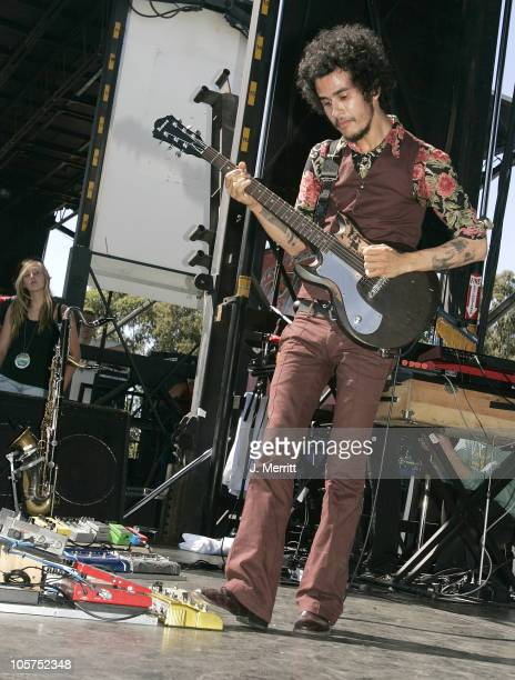 Omar RodriguezLopez of The Mars Volta during The 1067 KROQ 'Weenie Roast' Concert 2005 Show at Verizon Wireless Amphitheatre in Irvine California...