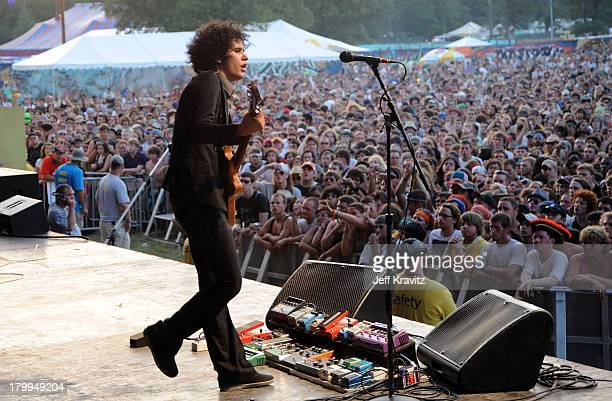 Omar RodriguezLopez of The Mars Volta perform on stage during Bonnaroo 2009 on June 13 2009 in Manchester Tennessee
