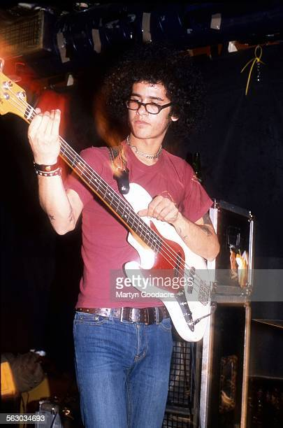 Omar RodriguezLopez performs on stage with Mars Volta London United Kingdom 2001