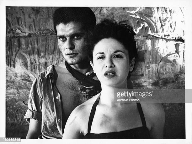 Omar Sharif and Faten Hamama in a scene from the film 'Siraa FilWadi' 1954